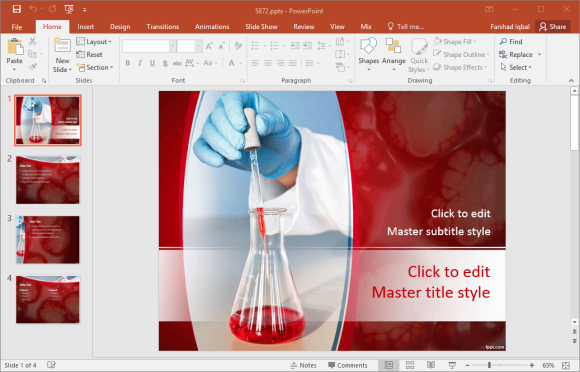 Free laboratory analysis powerpoint template toneelgroepblik