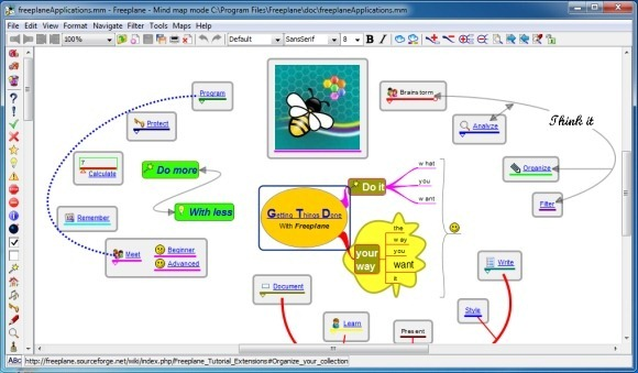 Freeplane free mind mapping tool for windows and mac for Free online office design tool