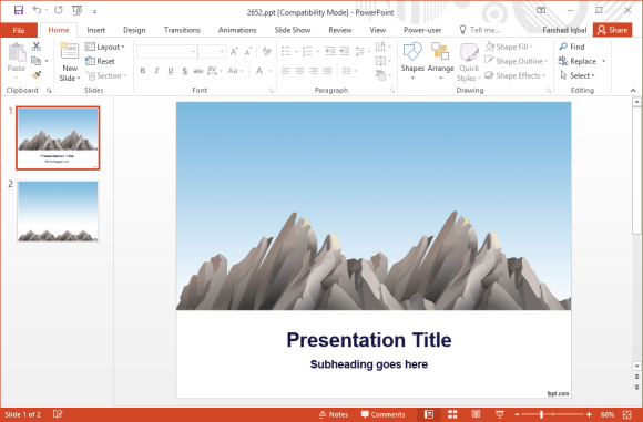 Free mountains powerpoint template toneelgroepblik
