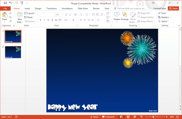 Free new year fireworks powerpoint templates toneelgroepblik Image collections