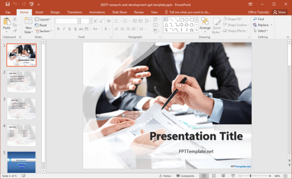 free-research-template-for-powerpoint-2016