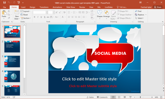 Free social media powerpoint template quantumgaming free digital marketing powerpoint templates modern powerpoint toneelgroepblik Images