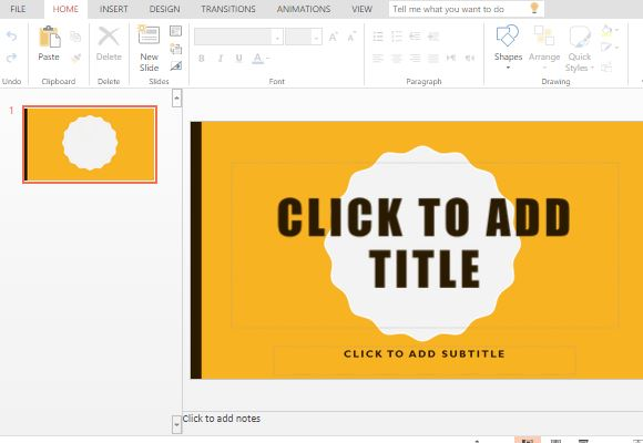 free badge powerpoint template