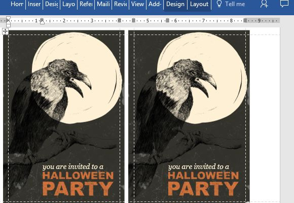 Halloween Party Invitation Card Template for Word