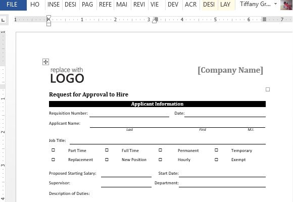 new hire form template free