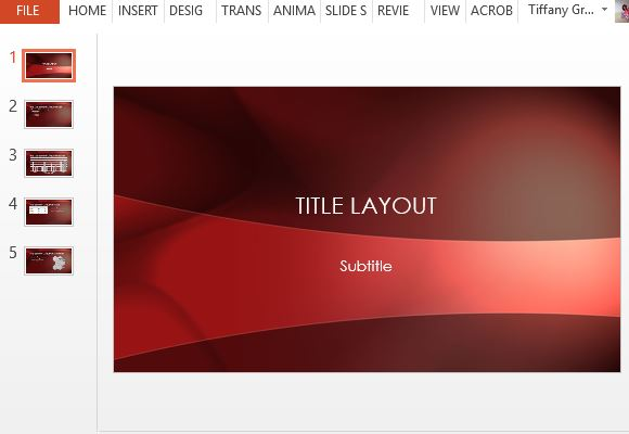 Free Crimson Powerpoint Template