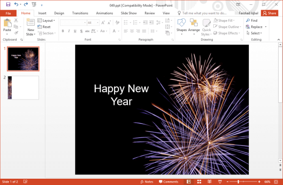 Free new year fireworks powerpoint templates new year fireworks powerpoint template toneelgroepblik Image collections