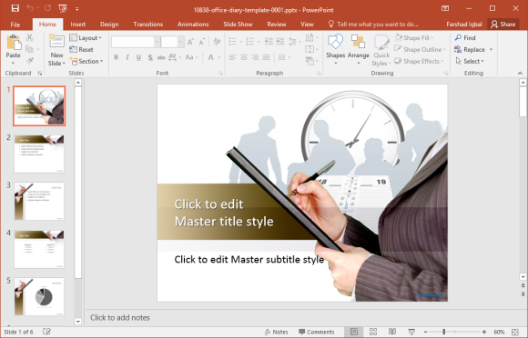office-diary-powerpoint-template