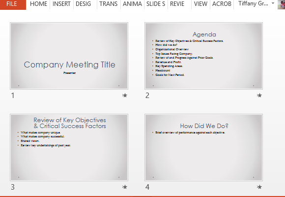 Company meeting powerpoint template with agenda slides organize your meeting and make it run smoothly toneelgroepblik Image collections