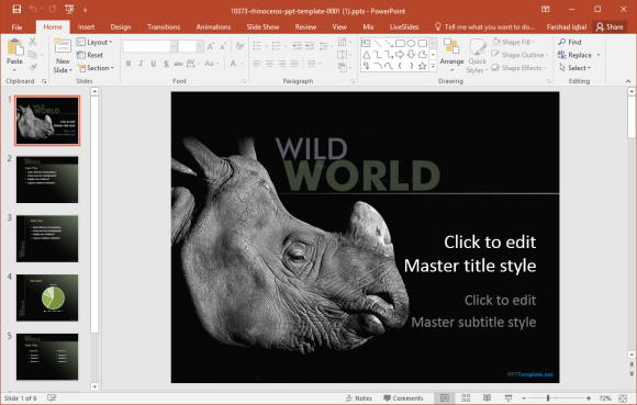 rhinoceros powerpoint template