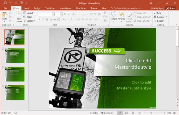 Free success powerpoint templates free success ppt template toneelgroepblik Image collections