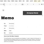 interoffice memo in word