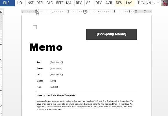 Interdepartmental Memo Template For Word