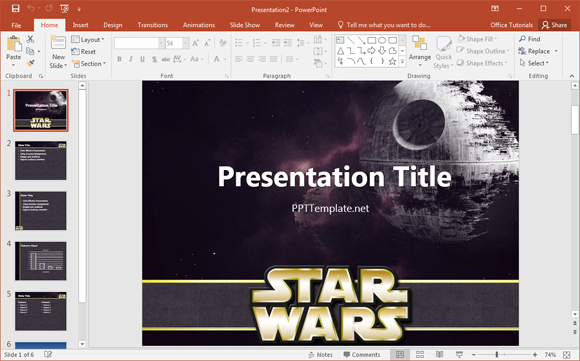 Star Wars Template | Free Star Wars Powerpoint Template