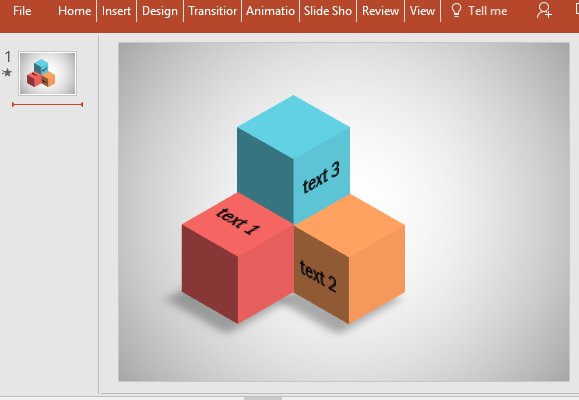 free editable cube diagram for powerpoint, Modern powerpoint