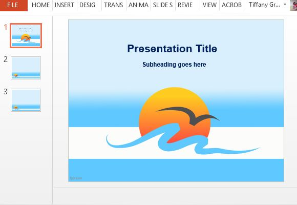 Free sun powerpoint templates sun and sea template for beautiful and inspiring toneelgroepblik Image collections