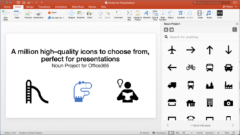 the noun project powerpoint add-in