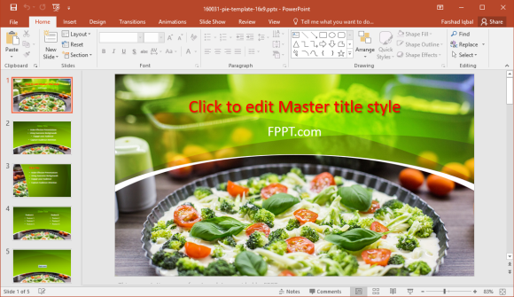 Vegetable pie powerpoint template
