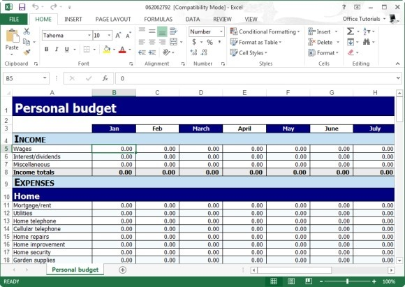 free personal budget planner template for excel