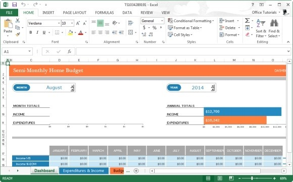 microsoft excel budget template 2013