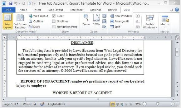 free-job-template