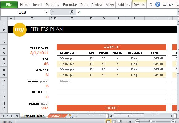 Create a Fitness Progress Tracker