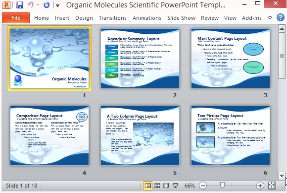 organic molecules scientific powerpoint template