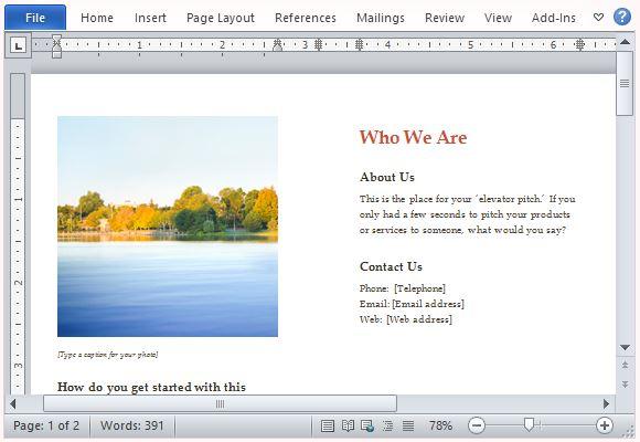 Create a Beautiful Business Brochure