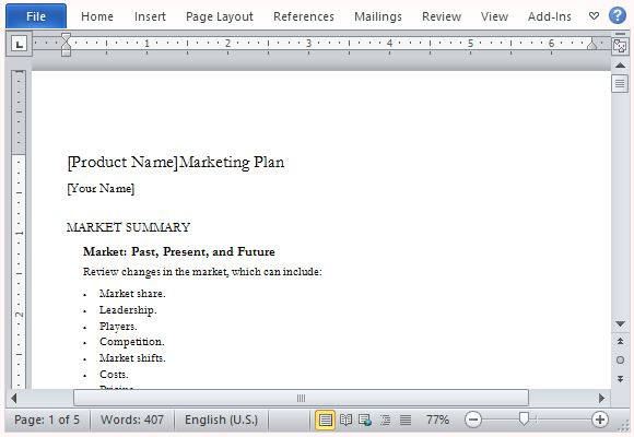 Create a Professional and Well-Written Marketing Plan
