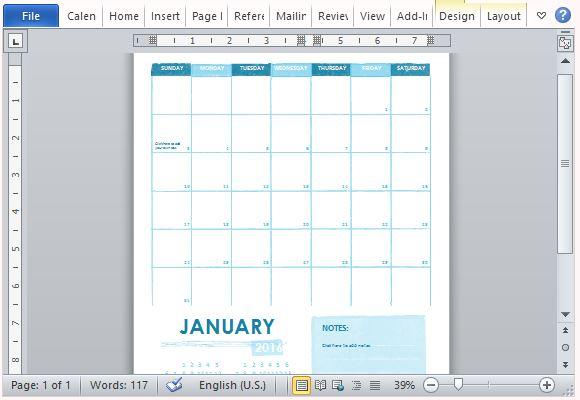 Easily Printable Academic Calendar for Work or Home