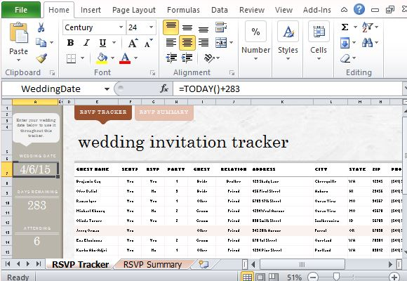 Include This Template in Your Wedding Preparations