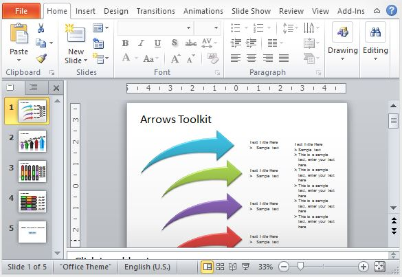 Use These Arrows Toolkit Slide Templates for PowerPoint