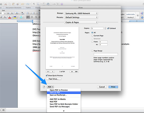 How To Print To PDF In Word For Mac