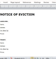 Well-Written Notice of Eviction
