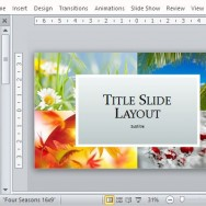 Show the Beauty of Nature with This Four Seasons Template for PowerPoint