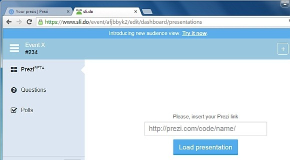 Add Prezi URL