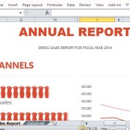 Annual Sales Report Using Infographic for Retail and Wholesale Businesses