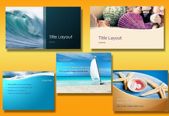 Beach Themed Templates for Every Presentation Need