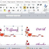 Beautiful and Elegant Placecards in Word