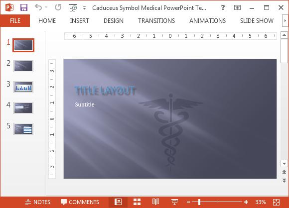 Caduceus medical PowerPoint template