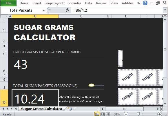 Calculate Sugar Intake And Visualize it Using This Template