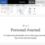 Cloud Based Personal Journal for Word Online