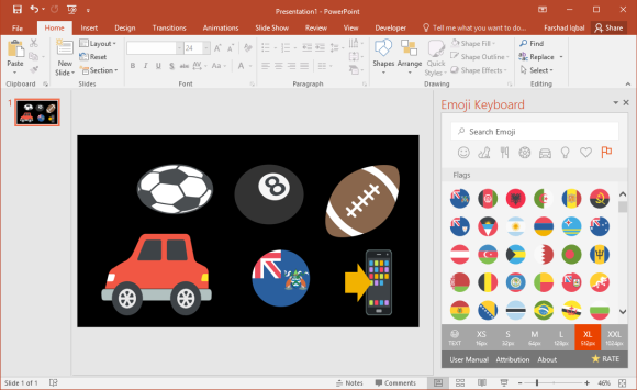 Emojis for PowerPoint