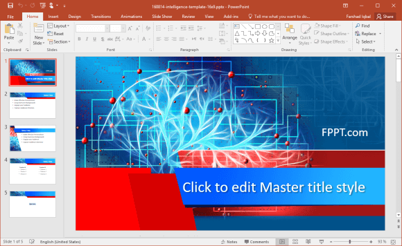 Free Brain Intelligence PowerPoint Template