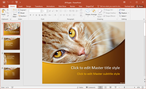 Free Cat PowerPoint Template