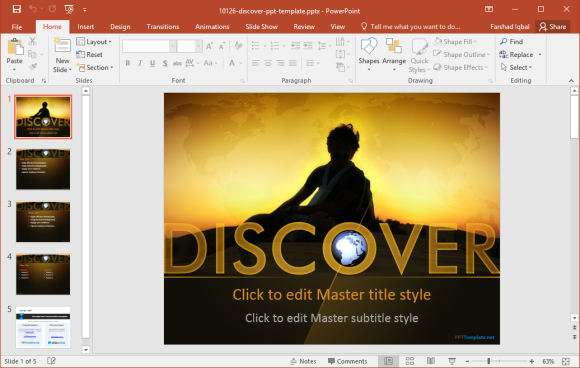 Free Discovery PowerPoint Template