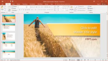 Free Farmer PowerPoint Template