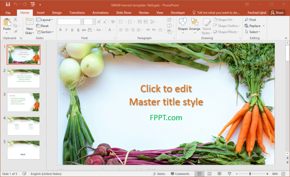 health and diet powerpoint template