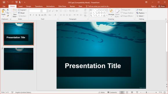 Free Moonlight PowerPoint Template