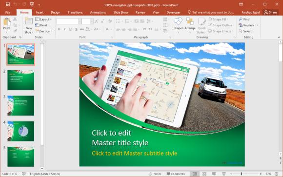 Free Navigator PowerPoint Template